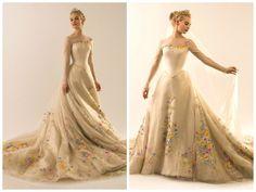 Vestido de Noiva do Filme Cinderella. Desenhado por Sandy Powell. 2015.