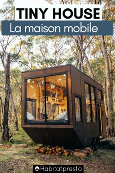 In our opinion tiny house should be perfect for students, lonely souls, young couples & adventure seekers (portable tiny homes). The most important thing for tiny house is space efficiency. Cabins In The Woods, House In The Woods, House Minimalist, Tiny House France, Off Grid Cabin, Container House Design, Tiny House Movement, Shipping Container Homes, House And Home Magazine