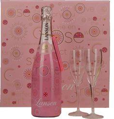 Geschenkdoos Lanson Pink Edition + 2 glazen - Champagne A.O.P. | Dewit Wijnen