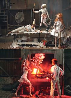 Lily Cole, Andrew Garfield and Lady Gaga in 'Hansel and Gretel' by Annie Leibovitz for Vogue US