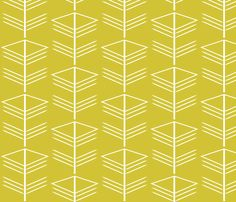 Geo Green fabric by littleduckandowl on Spoonflower - custom fabric