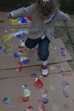Wellie Boot Painting. Pinned by The Sensory Spectrum.
