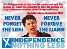 A political union that is founded on lies cannot survive. #indyref2