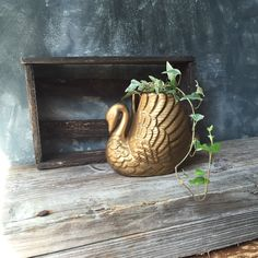Swan Ceramic Planter: Vintage Ceramic Swan Planter, Swan Shaped Ceramic, White Ceramic Plant Pot, Vintage Home Decor, Decorative Storage by Untried on Etsy