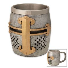 Battle Armor Chalices - The Crusader Helm Mug is an Knightly Game of Thrones Mug #drinking #alcohol