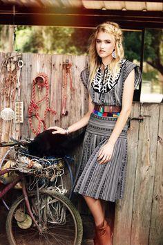 Mix Print Two Piece Dress by sandrachagen on Etsy