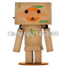 Free Shipping Lovely Danboard Mini PVC Action Figure Toy Danbo Doll with LED Light Amazon Style 8cm 6 styles
