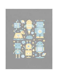 The Robot Collective Wall Art Prints by Dawn Jasper | Minted