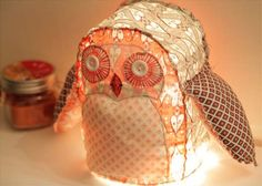 DIY owl lamp