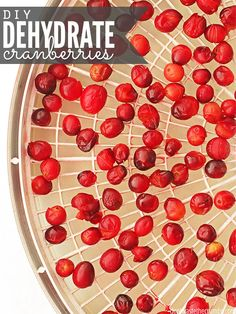 Easy tutorial for how to dehydrate cranberries plus cost breakdown to see if you save by dehydrating cranberries yourself versus buying them at the store. Canning Recipes, Raw Food Recipes, Freezer Recipes, Drink Recipes, Canning 101, Jar Recipes, Cookie Recipes, Vegetarian Recipes, Food Storage
