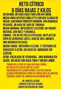 Dieta de cítricos Dr. Marco Lozano