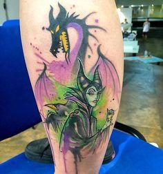 "133 curtidas, 6 comentários - Inked Disney (@inkeddisney) no Instagram: ""Loooove this Maleficent piece done by @bora_tattoo #inkeddisney"""