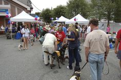 Many people gathered to find their new best friend at Ridgewood Veterinary Hospital's Adopt-A-Pet Day.
