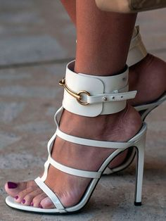 Gucci shoes - Street Style at Spring 2014 Fashion Week - Marie Claire