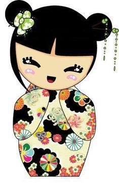 kokeshi paper template
