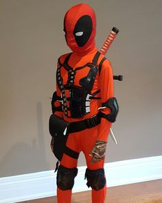 Diy deadpool costume pinterest deadpool costume female deadpool deadpool kids costume diy second skin rolerblade gear for knees and elbows combat solutioingenieria