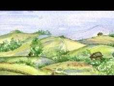 Landscape, Nature, Watercolor Original, Very Quick sketch Painting, Art, artist, Natalie Komisarova - YouTube