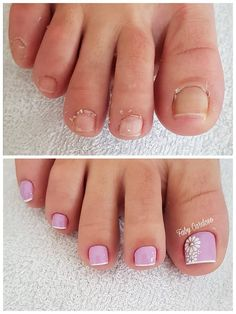 Unhas dos pés com cores e eamaltes perfeitos3.1 Manicure Y Pedicure, Mani Pedi, Salon Business Cards, Beauty Salon Logo, Craft Wedding, Toe Nail Designs, Crafts For Girls, Valentine Crafts, Toenails