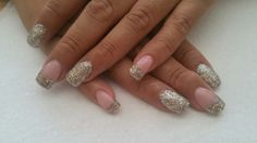 Tammy Taylor fresh pink and treasure chest sculptured nails