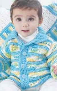 Over 100 Free Baby Sweater Crochet Patterns