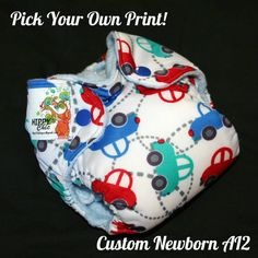 Design Your Own Newborn AI2 Diaper - New Prints Added by HippyChicDiapers on Etsy https://www.etsy.com/listing/214636531/design-your-own-newborn-ai2-diaper-new