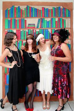 http://thelittlethingsdiy.com/ A 1920's speakeasy! Flapper dresses inspired by The Great Gatsby!