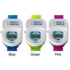 @Overstock - Help your little one get on track with potty training by using this 'Potty Watch' by Potty Time. Your toddler will be reminded to go with music and blinking lights, the watch is sure to get their attention.http://www.overstock.com/Baby/Potty-Time-Potty-Watch-Training-Timer/6337925/product.html?CID=214117 $9.99