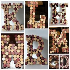 Wine Cork Monogram Letter