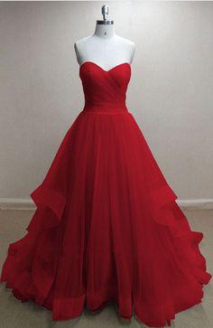 Sleeveless Prom Dress,Red Open Back Prom Dresses,Long #prom #promdress #dress #eveningdress #evening #fashion #love #shopping #art #dress #women #mermaid #SEXY #SexyGirl #PromDresses