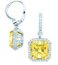 Tiffany fancy yellow diamond earrings