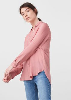Струящаяся рубашка с карманами