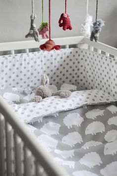 Cot Bed Duvet Cover And Pillowcase Sheep from notonthehighstreet.com