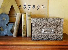 vintage card file box – available at AtticAntics on Etsy