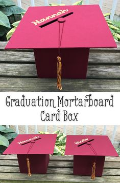 Planning a party for your favorite graduate? Make a mortarboard box - complete with tassel - to hold graduation cards. Teacher Graduation Party, Graduation Card Boxes, Graduation Party Themes, Graduation Crafts, Graduation Celebration, Graduation Tassel, Graduation Ideas, Grad Parties, College Graduation Parties
