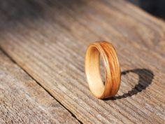 White Oak on Maple Bentwood Ring by BojtStudio on Etsy, $75.00