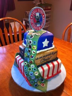 Eagle Scout cake.  My son was an eagle scout.
