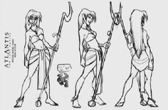 Living Lines Library: Atlantis - The Lost Empire (2001) - Characters: Model Sheets & Production Drawings