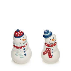At home with Ashley Thomas White snowman salt and pepper shakers in a gift box | Debenhams