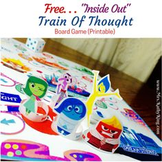 Free Inside Out Broard Game Printable and other games Elementary Counseling, Counseling Activities, School Counseling, Therapy Games, Therapy Activities, Activities For Kids, Play Therapy, Therapy Ideas, Inside Out Emotions