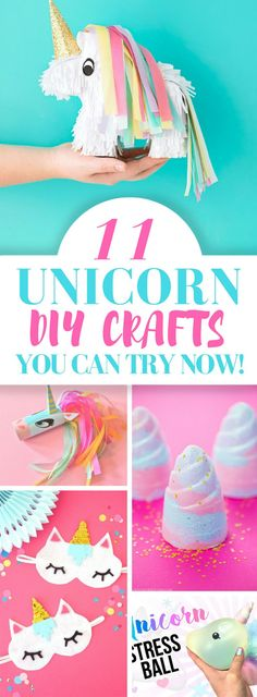 Here are 11 Unicorn DIY crafts that you can try right away and you will enjoy working on them too and will love the results.