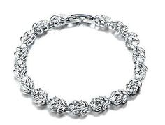 Swarovski Crystal Sparkling Drops Double Layer Bracelet for Women by YELLOW CHIMES at DealsPricer India