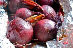 And it's a beet recipe.Are you scared yet? I am a raging hypochondriac.I like to blame it on my crazy … Roasted Beets Recipe, Beet Recipes, Alton Brown, Goat Cheese, Fruit, Blame, Food, Ina Garten, Beetroot Recipes