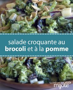 Business Cookware Ought To Be Sturdy And Sensible This Salad Tastes So Good, You'll Want To Marry It And Have Its Babies. The best part is that You Can Prep It In Just 10 Min. Tap Or Click Photo For This Crunchy Broccoli-Apple Salad Clean Eating Recipes, Cooking Recipes, Apple Salad Recipes, Apple Snacks, Great Recipes, Favorite Recipes, Healthy Snacks, Healthy Eating, Vegetarian Recipes