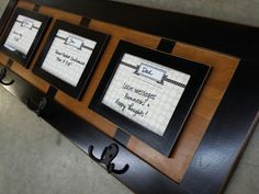 Cabinet door coat rack - easy and cheap reuse for a cupboard door!  Made by Cabinet Doors & More in Fordsville, KY