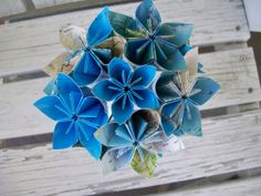 Eco Friendly Atlas Paper Flower Wedding Bouquet and by PoshStudios
