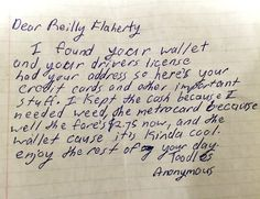 Guy in NYC loses wallet receives this letter in the mail. #Follow Me #CooliPhone6Case on Twitter Facebook Google Instagram LinkedIn Blogger Youtube