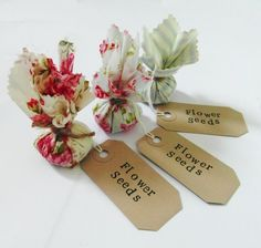Set of 10 Country Garden Flower Seed Wedding Favours with Hand Stamped Labels by BoutiqueByLauraAnn on Etsy https://www.etsy.com/listing/216838080/set-of-10-country-garden-flower-seed