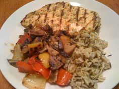 Grilled chicken & veg