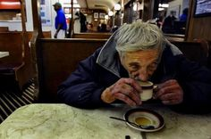 """Order a suspended coffee - """"People pay in advance for a coffee meant for someone who can't afford a warm beverage. The tradition started in Naples, but it has spread all over the world and in some places you can order not only a suspended coffee, but also a sandwich or a whole meal."""""""