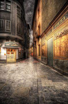 Rincones de Zaragoza 6    Entrada a la calle del Temple por la Plaza de San Felipe